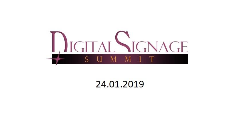 ŚWIAT CYFROWEJ REKLAMY- DIGITAL SIGNAGE SUMMIT– 24 STYCZNIA 2019