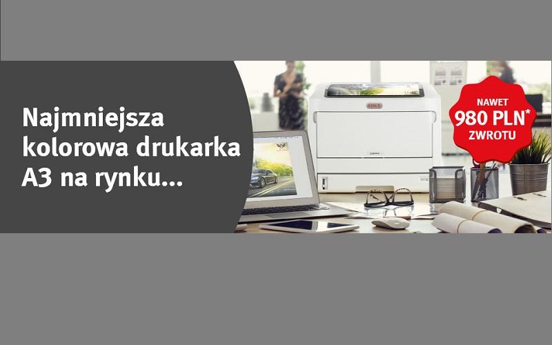 Najmniejsza kolorowa drukarka A3 na rynku.