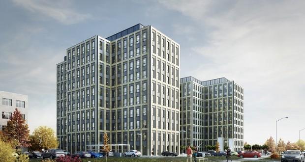 Prezentacja projektu biurowego Symetris Business Park
