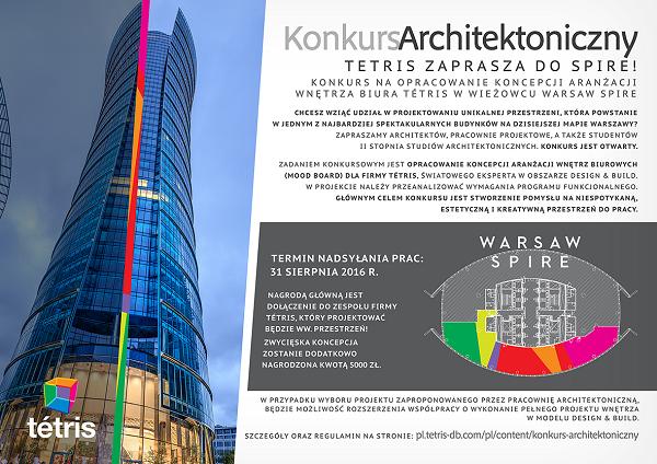 Tétris ogłasza konkurs architektoniczny i zaprasza do Warsaw Spire