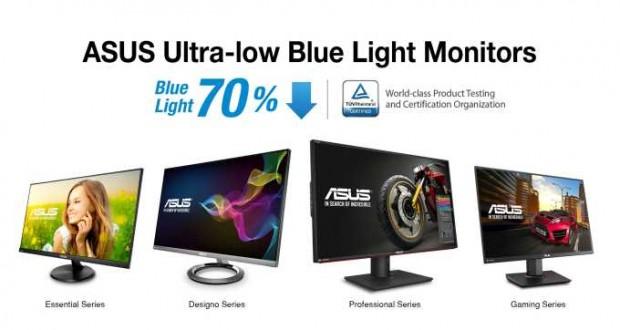 Monitory ASUS Ultra-Low Blue Light z największą liczbą certyfikatów TÜV Rheinland