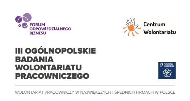 Wolontariat wspiera rozwój pracownika. Pełny raport z III Ogólnopolskiego Badania Wolontariatu Pracowniczego