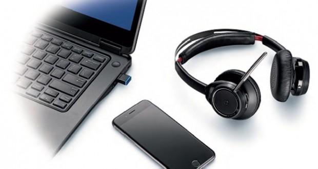 Plantronics wprowadza do oferty pierwszą bezprzewodową słuchawkę stereo Unified Communications z aktywną redukcją szumów w przestrzeni biurowej